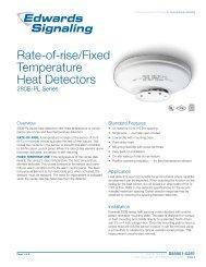Heat Detector,Fixed Temperature EDWARDS SIGNALING CF135-2