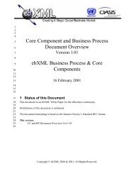 Core Component and Business Process Document ... - ebXML