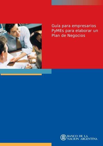 PLAN PYMES 2.qxd - Banco De La Nación Argentina