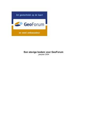 Jaarplan 2004 - Geotechniek