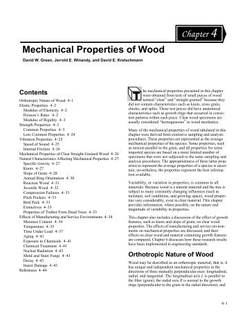 Chapter 4--Mechanical Properties of Wood - Conrad Forest Products