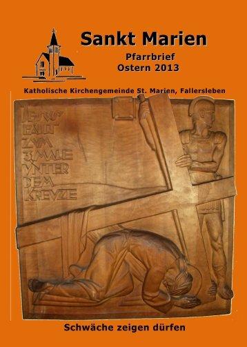 Oster-Pfarrbrief 2013 - Stmarien-fallersleben.de