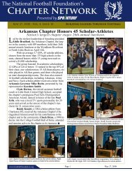 Chapter Network - The National Football Foundation