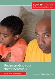 Understanding your child's behaviour - Contact a Family