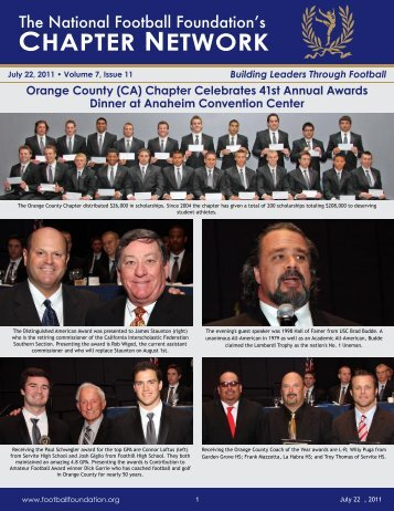 Volume 7, Issue 11 - National Football Foundation