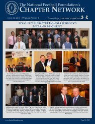 Volume 9, Issue 7 - National Football Foundation