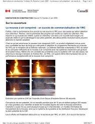 Article de la série Innovation en construction du CNRC_La mousse ...