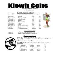 2013-2014 Athletic Schedule
