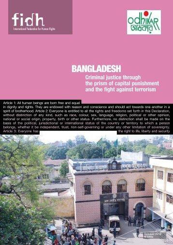 BANGLADESH: Criminal justice through the prism of capital ... - FIDH