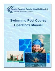 Swimming Pool Course Operator's Manual - South Central District ...