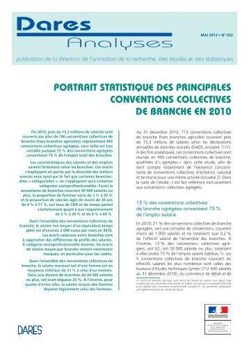 Portrait statistique des principales conventions collectives de ...