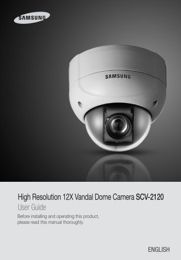 High Resolution 12X Vandal Dome Camera SCV-2120 ... - Samsung