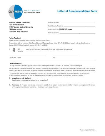 Byu Letter Of Recommendation Medical School