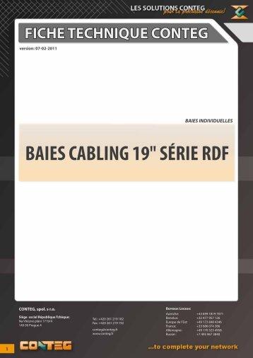 """fiche technique conteg baies cabling 19"""" série rdf"""
