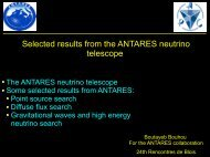 Selected results from the ANTARES neutrino telescope - APC