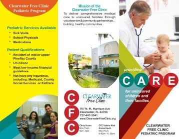 Pediatric brochure canine rev creekside animal clinic pediatric brochure the clearwater free clinic altavistaventures Image collections