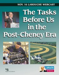 The Tasks Before Us in the Post-Cheney Era The Tasks ... - LaRouche