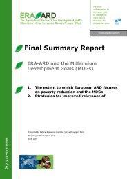 D23 - ERA-ARD and the Millennium Development Goals (MDGs)