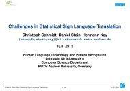 Challenges in Statistical Sign Language Translation - signspeak