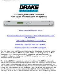 Drake Digital DQT860 Digital to QAM Transcoder - Quality Cable ...