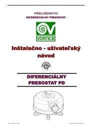 uzn-v-vpd_vpk-diferencialny presostat pd-1208-01-sk - KLIMAVEX as