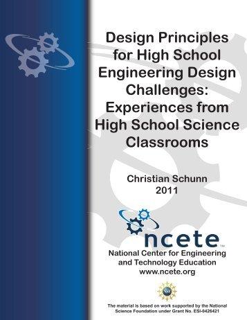 Design Principles for High School Engineering Design Challenges ...