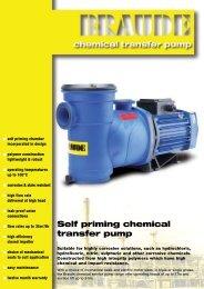 self priming chemical pumps