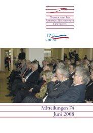 Mitteilungen 74 Juni 2008 - Geschichte in Schleswig-Holstein