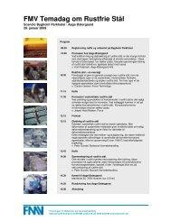FMV Temadag om Rustfrie Stål