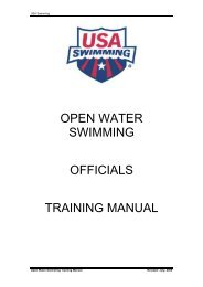 open water swimming officials training manual - USA Swimming