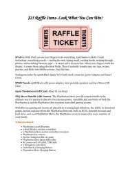 25 Raffle Items- Look What You Can Win! - Soepto.org