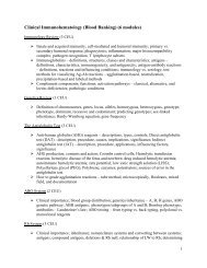 Clinical Immunohematology (Blood Banking) (6 modules)