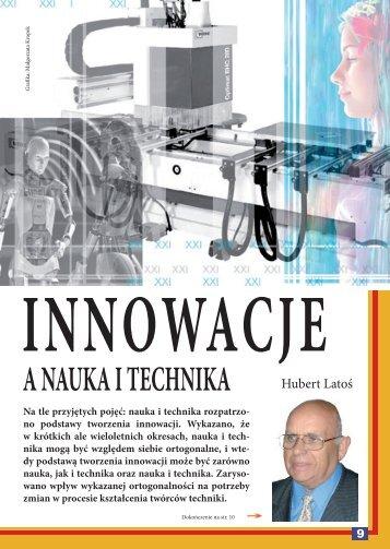 Innowacje a nauka i technika - Świat Obrabiarek