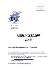 NIEUWSBRIEF DAB - Stijn