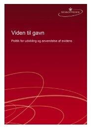 politik for udvikling og anvendelse af evidens.pdf - Socialstyrelsen