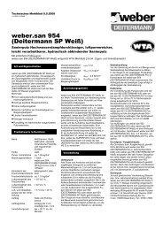 weber.san 954 (Deitermann SP Weiß) - Saint-Gobain Weber GmbH