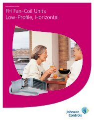 FH Fan-Coil Units Low-Profile, Horizontal - Johnson Controls Inc.