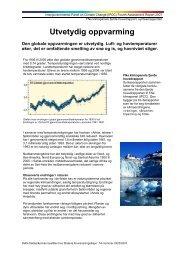 Utvetydig oppvarming - faktaark om synteserapporten fra FNs ...