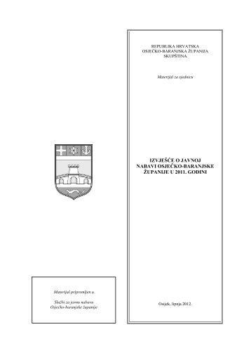 izvješće o javnoj nabavi osječko-baranjske županije u 2011. godini