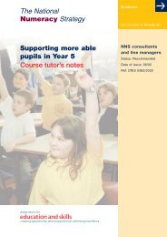 Supporting more able pupils in Year 5 Course tutor's notes ... - PGCE