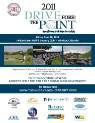Friday, June 10, 2011 Pelican Lakes Golf & Country ... - Turning Point