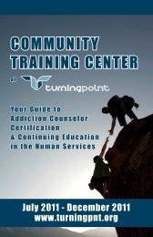 COMMUNITY TRAINING CENTER - Turning Point