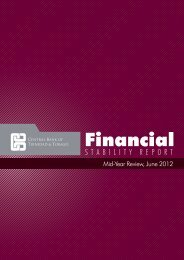 Financial Stability Report June 2012 - Central Bank of Trinidad and ...