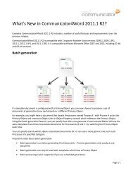 What's New in Comunicator4Word 2011.1 R2 - Casewise