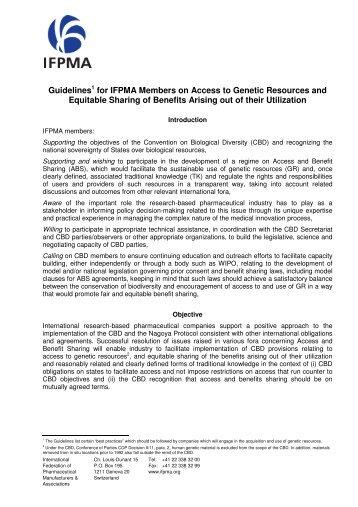 IFPMA Guidelines