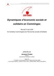 Dynamiques d'économie sociale et solidaire en Comminges