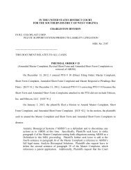 Pretrial Order #15 - January 8, 2013 - Southern District of West Virginia