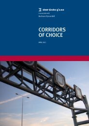 Corridors of Choice - Steer Davies Gleave
