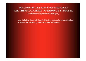 DIAGNOSTIC DES PEINTURES MURALES PAR ...