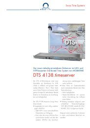 DTS 4138.timeserver - MOBATIME Swiss Time Systems